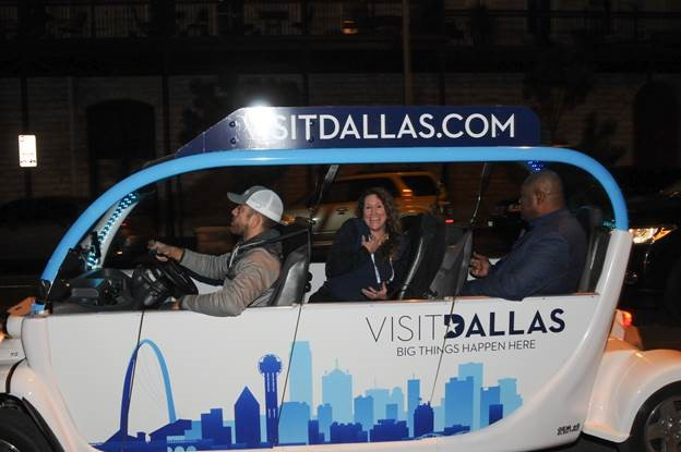 VisitDallas branding on all carts in Austin
